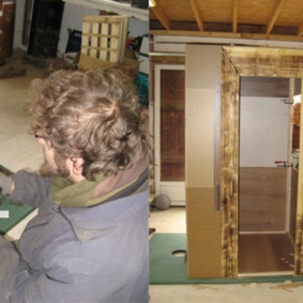 Coulisses: hiver 2014, 3 semaines chono pour construite le décor. Ça chauffe!